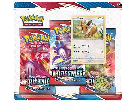 Pokémon TCG 3-Pack Battle Styles Eevee