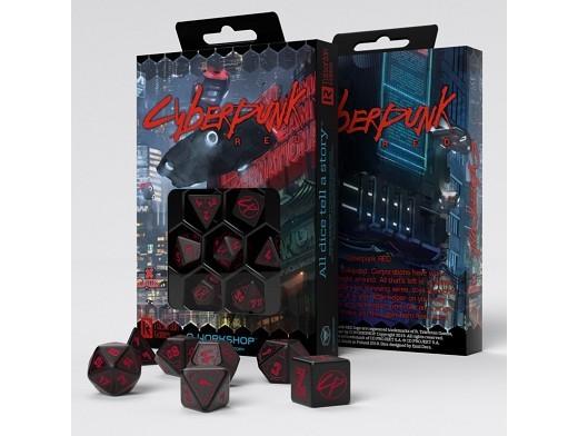 Set de 7 dados Cyberpunk Red - Juego de rol