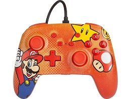 Control con Cable PowerA Mario Vintage NSW