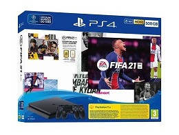 PlayStation 4 PS4 Slim 500GB +FIFA21 + 2 Controles