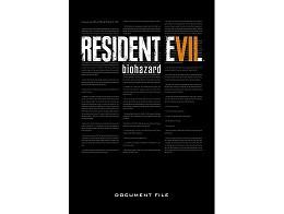 Resident Evil 7: Biohazard Doc File (ING) Libro