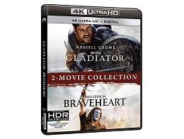 Gladiator/Braveheart 2-Movie Collection 4K Blu-Ray