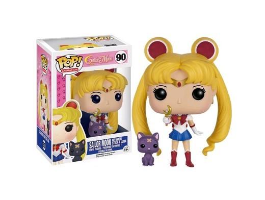 Figura Pop Anime: Sailor Moon w/ Moon Stick & Luna