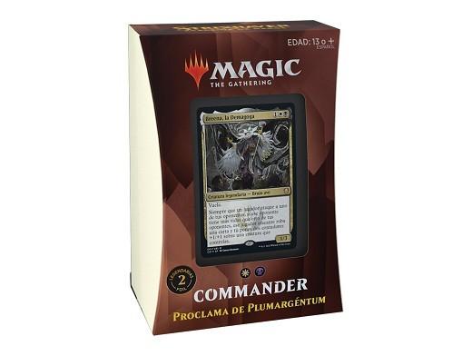 Mazo MTG commander Strixhaven Proclama Plumargéntu