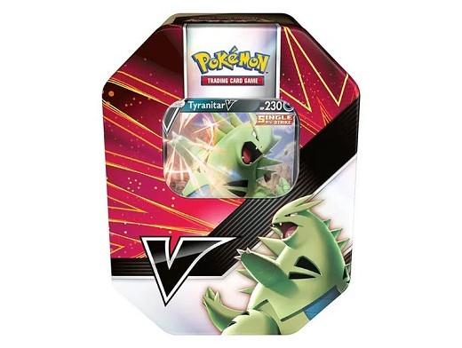 Pokémon TCG: V Strikers Tin Tyranitar V (ESPAÑOL)