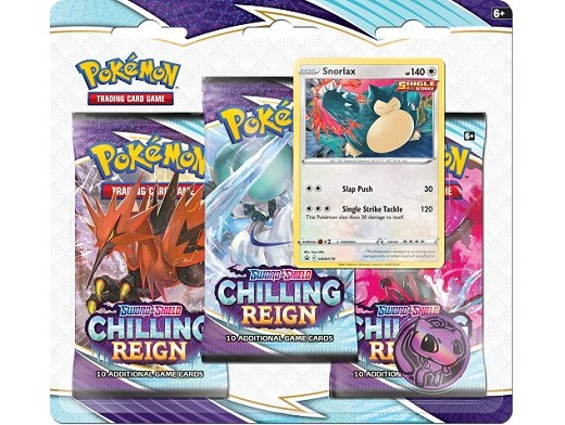 Pokémon TCG 3-Pack Chilling Reign Snorlax