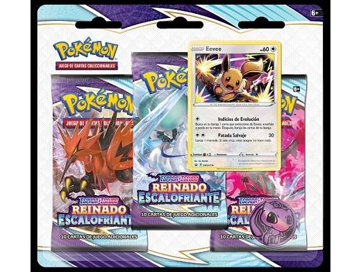 Pokémon TCG 3-Pack Reinado Escalofriante Eevee