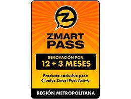 ZMART PASS: Renovación R. Metropolitana 12+3 meses