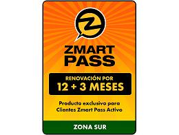 ZMART PASS: Renovación Zona Sur 12+3 meses