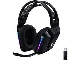 Headset Inal?mbrico Logitech G733 Negro