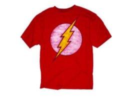 Polera The Flash Distressed Big Logo Red